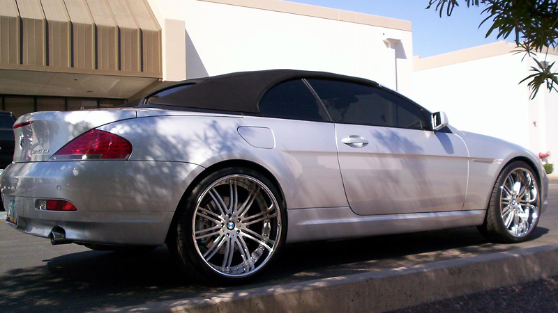 22 MHT VENDETTA CHROME RIMS WHEELS BMW 645 650 745 750